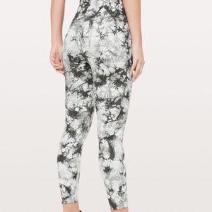 Lululemon Tie Dye B&W Yoga Pants